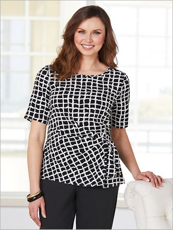 Windowpane Blouse by Brownstone Studio®