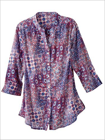 Patriotic Patchwork Shirt - Image 0 of 1