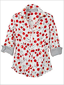 Wild Cherry Print Shirt by Foxcroft