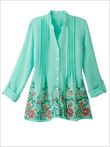 Tropicali Embroidered Gauze Top by Ruby Rd. - Image 1 of 4