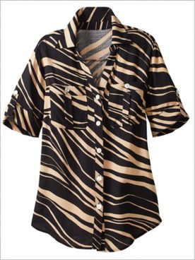 Zebra Print Shirt by Ruby Rd.