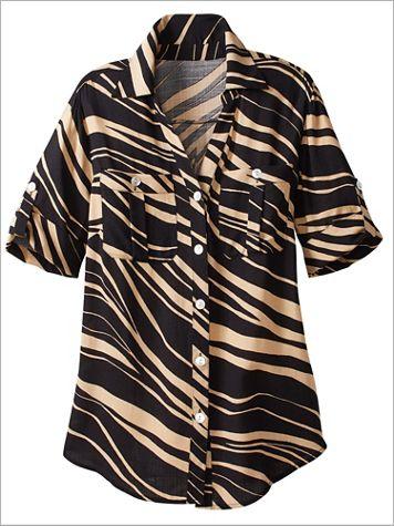 Zebra Print Shirt by Ruby Rd. - Image 2 of 2