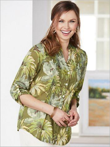 Pintuck Palm Shirt - Image 3 of 3