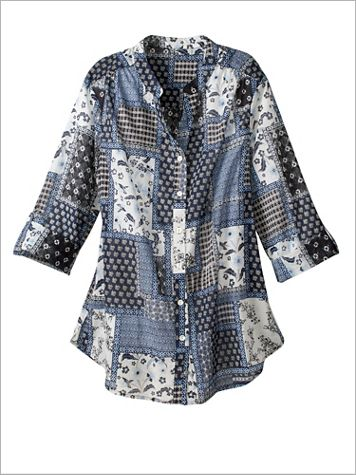 Singing The Blues Patchwork Shirt - Image 2 of 2