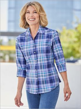 Foxcroft Plaid Cove Long Sleeve Shirt