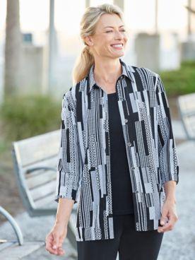 Cityscape 3/4 Sleeve Shirt