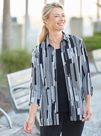 Cityscape 3/4 Sleeve Shirt - Image 2 of 2