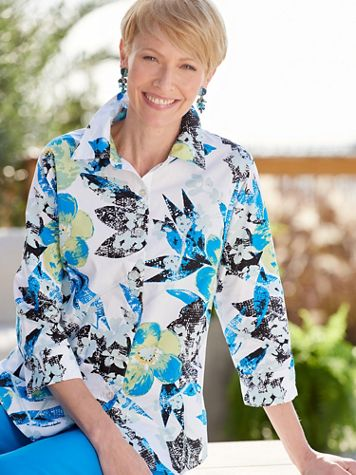 Paradise Floral 3/4 Sleeve Shirt - Image 2 of 2