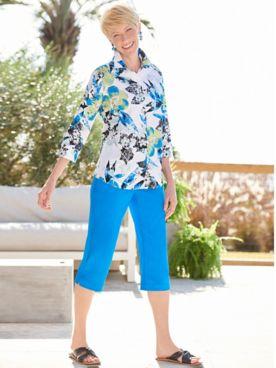 Paradise Floral Shirt & Slimtacular® Capris