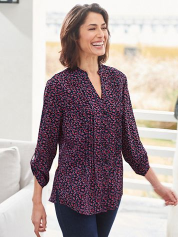 Dainty Rosebud 3/4 Sleeve Shirt - Image 2 of 2