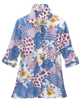 Rosebud Patch 3/4 Sleeve Shirt