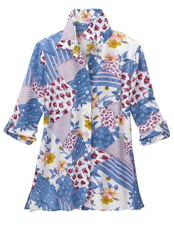 Rosebud Patch 3/4 Sleeve Shirt - Image 2 of 2