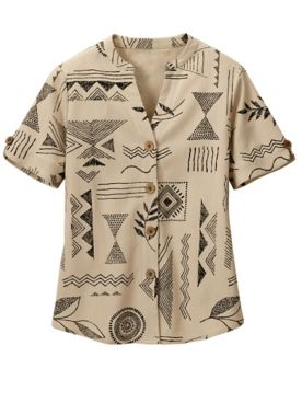 Stamp Print Mojave Camp Shirt