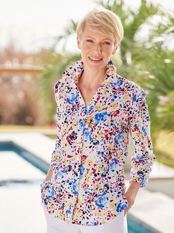 Foxcroft American Blooms Shirt - Image 2 of 2