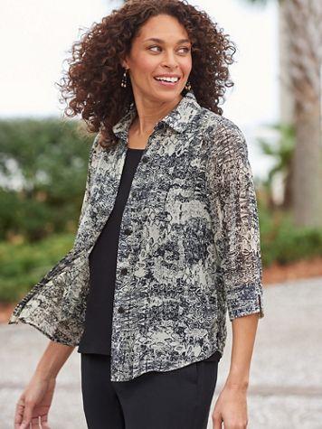 Batik Patchwork 3/4 Sleeve Shirt - Image 2 of 2
