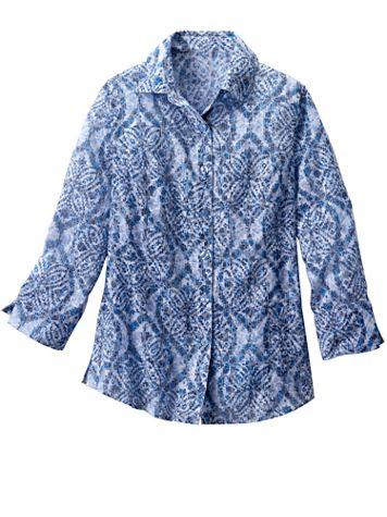 Batik Burnout 3/4 Sleeve Shirt - Image 2 of 2