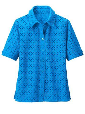 Everyday Eyelet Short Sleeve Shirt - Image 1 of 3