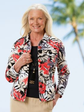 Desert Floral Jacquard Jacket
