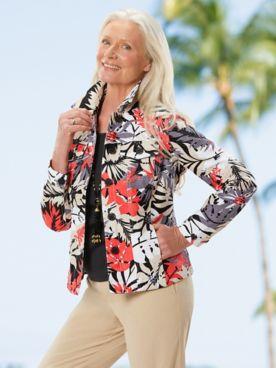 Desert Floral Jacquard Jacket & Slimtacular® Pants
