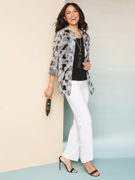Abstract Neutral Shirt & Ultima Knit Separates