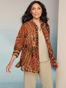 Santa Fe Sunset Shirt & Textured Stretch Crepe Separates