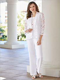 Butterfly Lace Jacket & Textured Stretch Crepe Separates