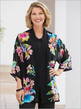 Tropical Floral Kimono
