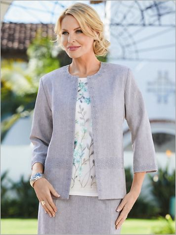 Versailles Lace Trim Jacket by Alfred Dunner - Image 2 of 2