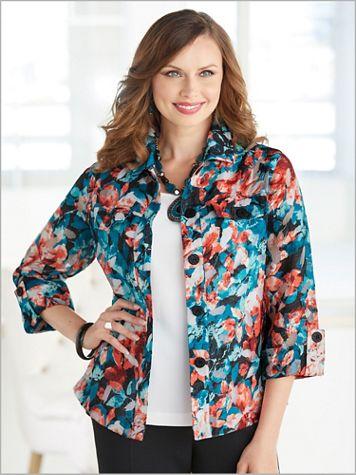 Pressed Floral Burnout Jacket - Image 2 of 2