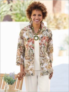Tropical Oasis Burnout Jacket