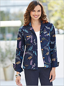 Embroidered Leaf Jacket by Foxcroft