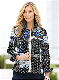 Patchwork Blues Jacket