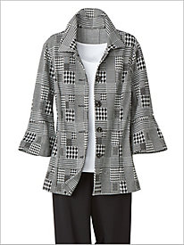 Patched Houndstooth Jacket by Brownstone Studio®