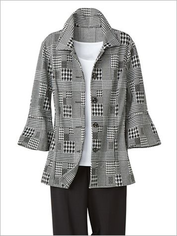 Patched Houndstooth Jacket by Brownstone Studio® - Image 3 of 3