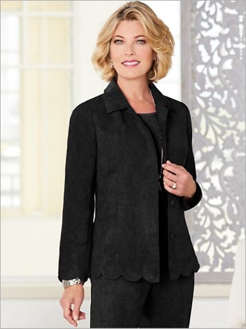 Microsuede Scallop Jacket - Image 2 of 2