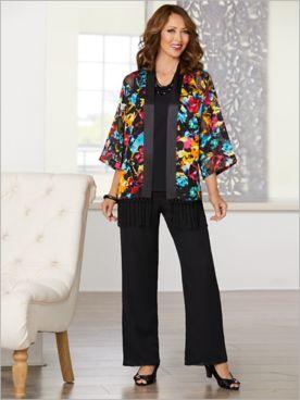 Over The Rainbow Kimono & Georgette Separates