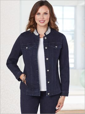 Slimtacular® Plaza Pearl Denim Jacket