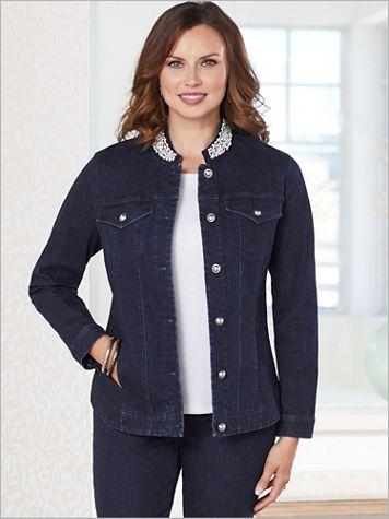 Slimtacular® Plaza Pearl Denim Jacket - Image 3 of 3
