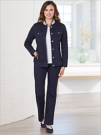Slimtacular® Plaza Pearl Denim Jacket & Denim Pants