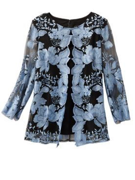 Alex Evenings Floral Lace Special Occasion Jacket And Tank