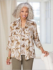 Boardroom Floral Knit 2-Fer by Alfred Dunner