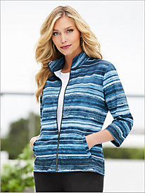 Top It Off Stripe Jacket