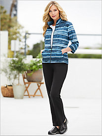 Top It Off Stripe Jacket & Everyday Comfort Knit Pants