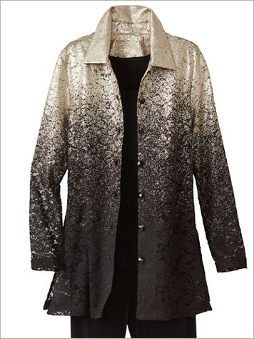 Ombré Speckled Lace Shirt Jacket - Image 2 of 2