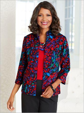 Color Burst Shantung Jacket - Image 2 of 2