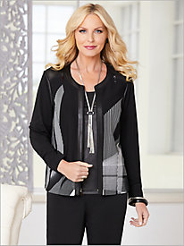 A Perfect Match Print Jacket by Picadilly