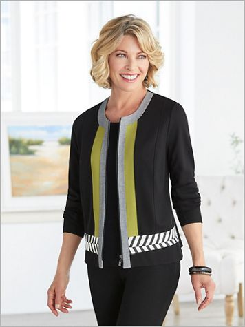 Chevron Trimmed Jacket by Picadilly - Image 2 of 2