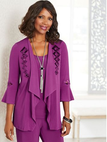 Punch Of Color Open Front Jacket by Picadilly - Image 1 of 1