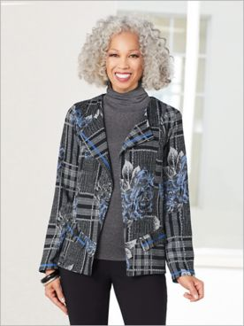 Floral Plaid Jacquard Jacket by Picadilly