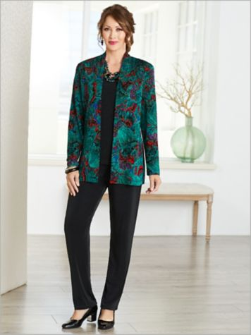 Jewel Box Textured Jacket & Signarure Knits® Separates